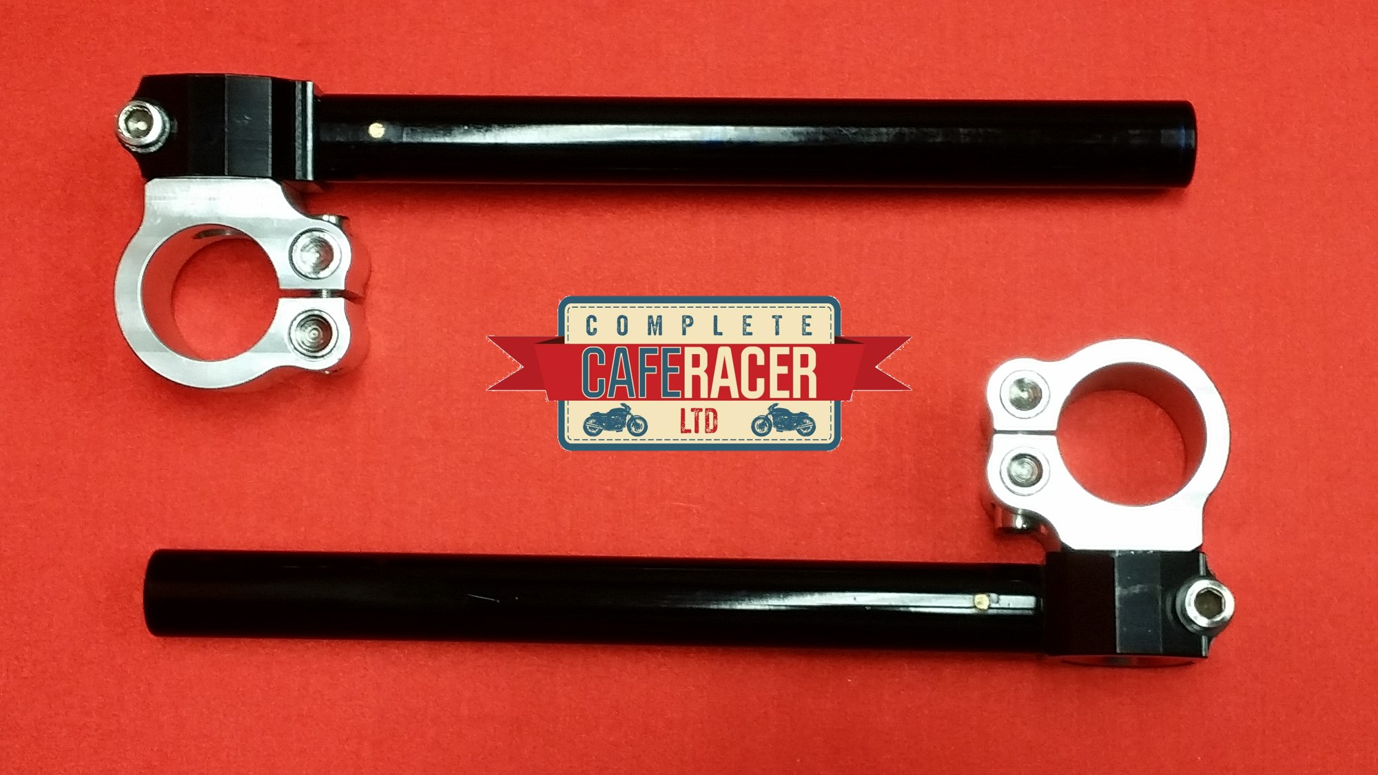 CAFE RACER ADJUSTABLE CLIP ON HANDLE BARS