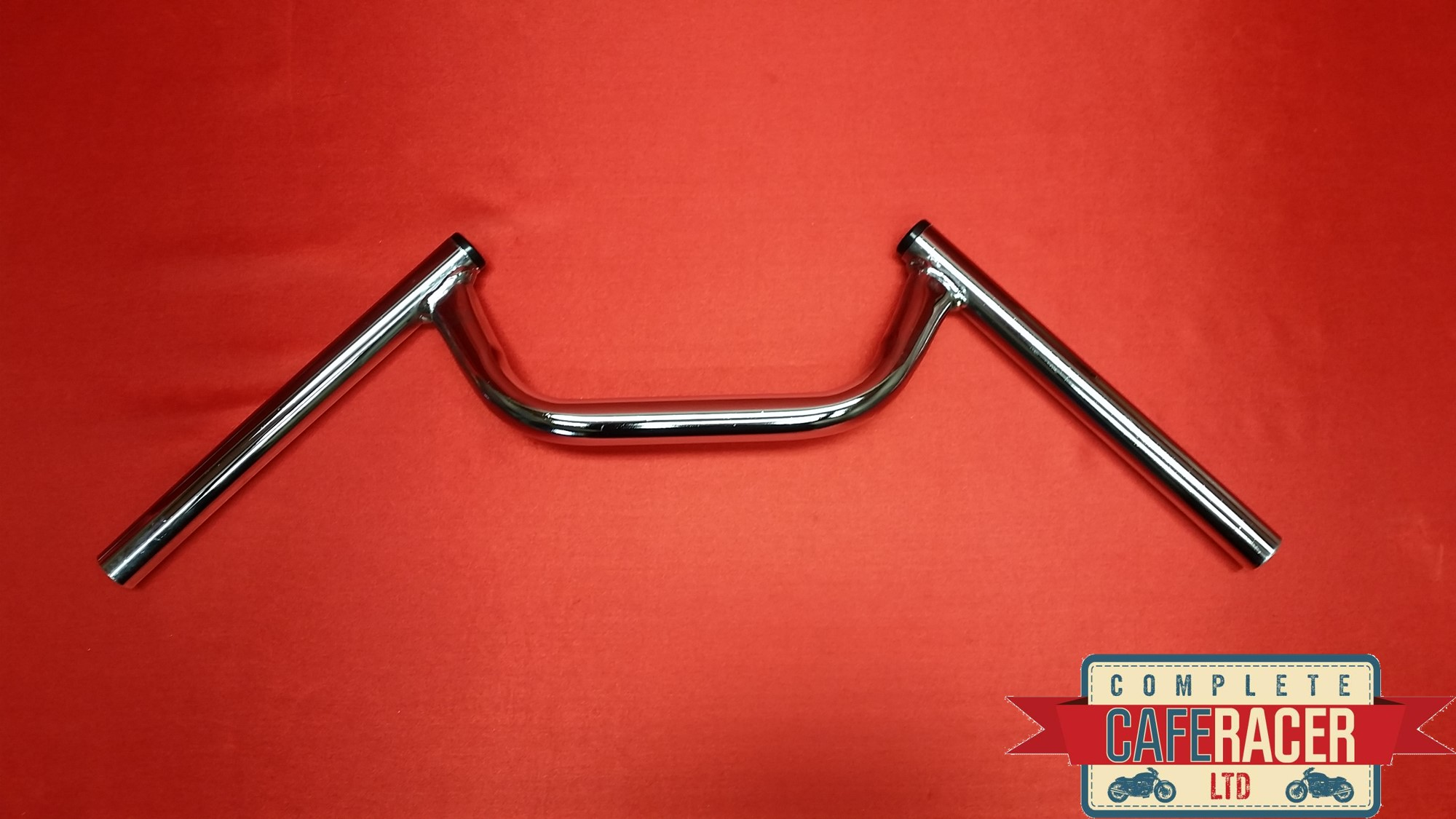 2ND'S CAFE RACER CHROME ACE BARS / CLUBMAN BARS *THESE ARE SECONDS*