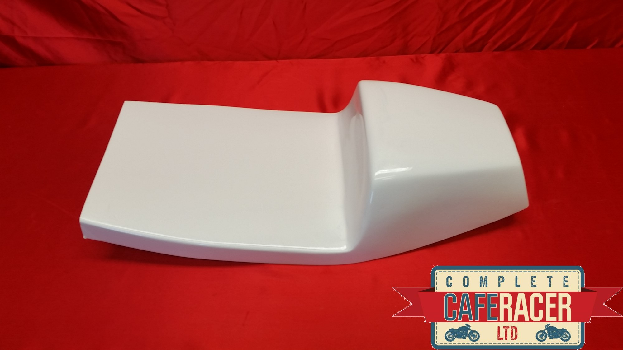 White Rickman Wide Side cafe racer seat