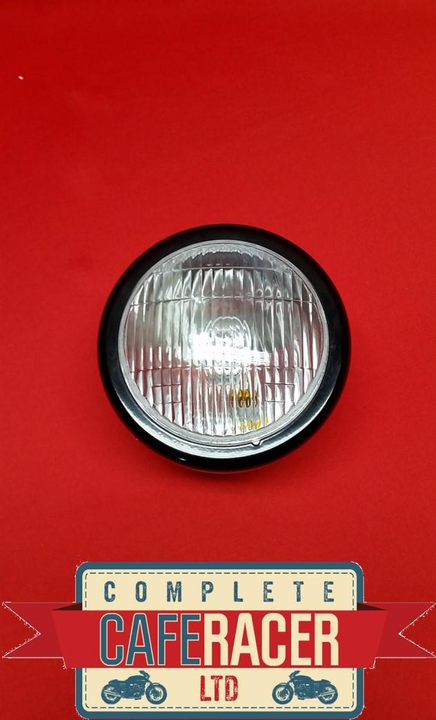 "(HL2) CAFE RACER MOTORCYCLE SIDE MOUNT HEADLIGHT LAMP 5"" LENSE"