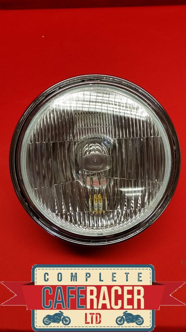 """(HL5) CAFE RACER CUSTOM MOTORCYCLE SIDE MOUNT HEADLIGHT LAMP 7"""" LENSE"""