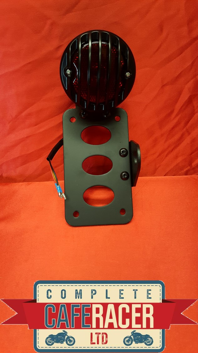 (SM2b) CAFE RACER SIDE MOUNT NUMBER PLATE BRACKET WITH STOP &TAIL LIGHT