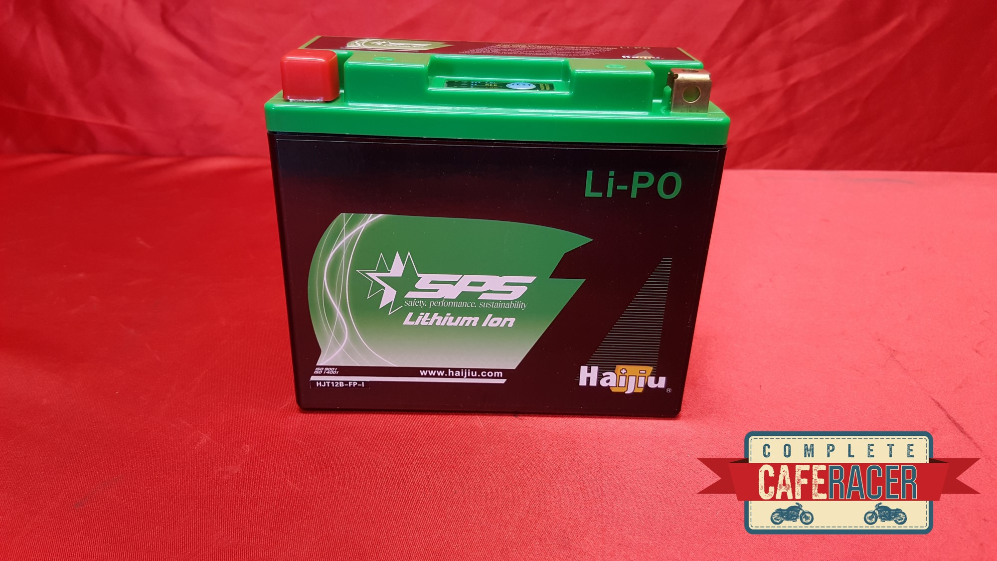 (LG) CAFE RACER LITHIUM ION BATTERY 12V COMPACT LIGHTWEIGHT 10AMP