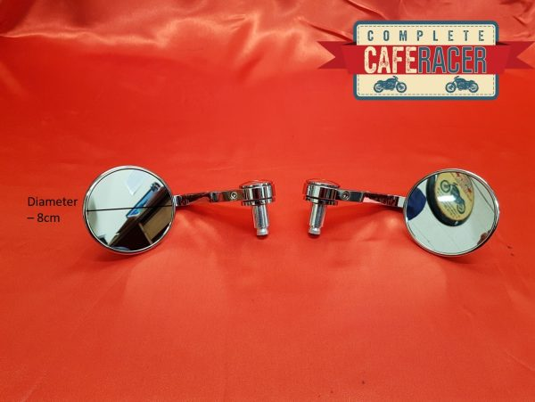 deluxe chrome bar end mirrors
