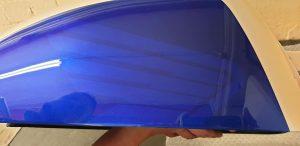 blue paint work